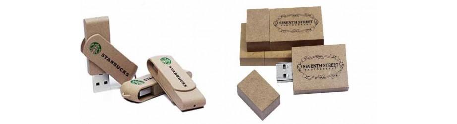 Pendrives Personalizados Material reciclado